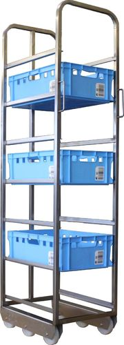 Euro standard transport trolley for 7 E2 boxes