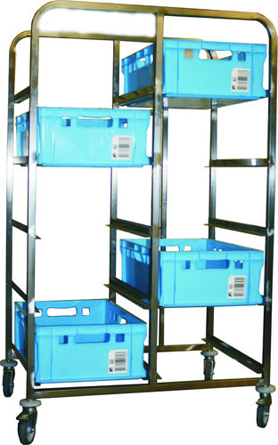 Euro standard transport trolley for 10 E2 boxes