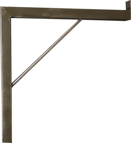 Wall console made of stainless steel 400x400 mm heavy load angle